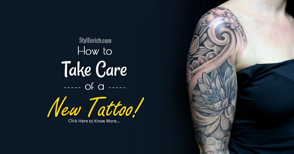 tattoo care instructions how to take care of a new tattoo