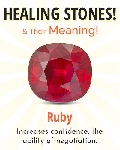 Ruby Healing Stone
