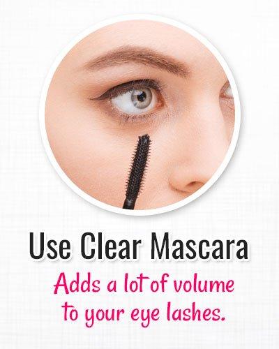 Use Clear Mascara