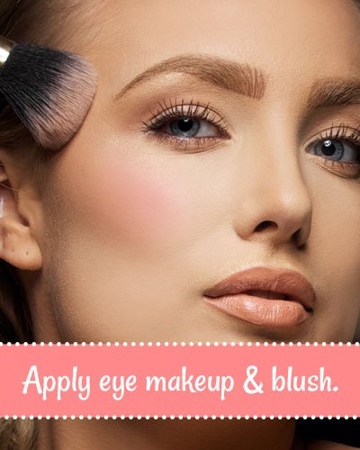 How to Apply Blush And Eye Makeup?