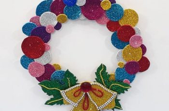 DIY Christmas Wreath with Bells