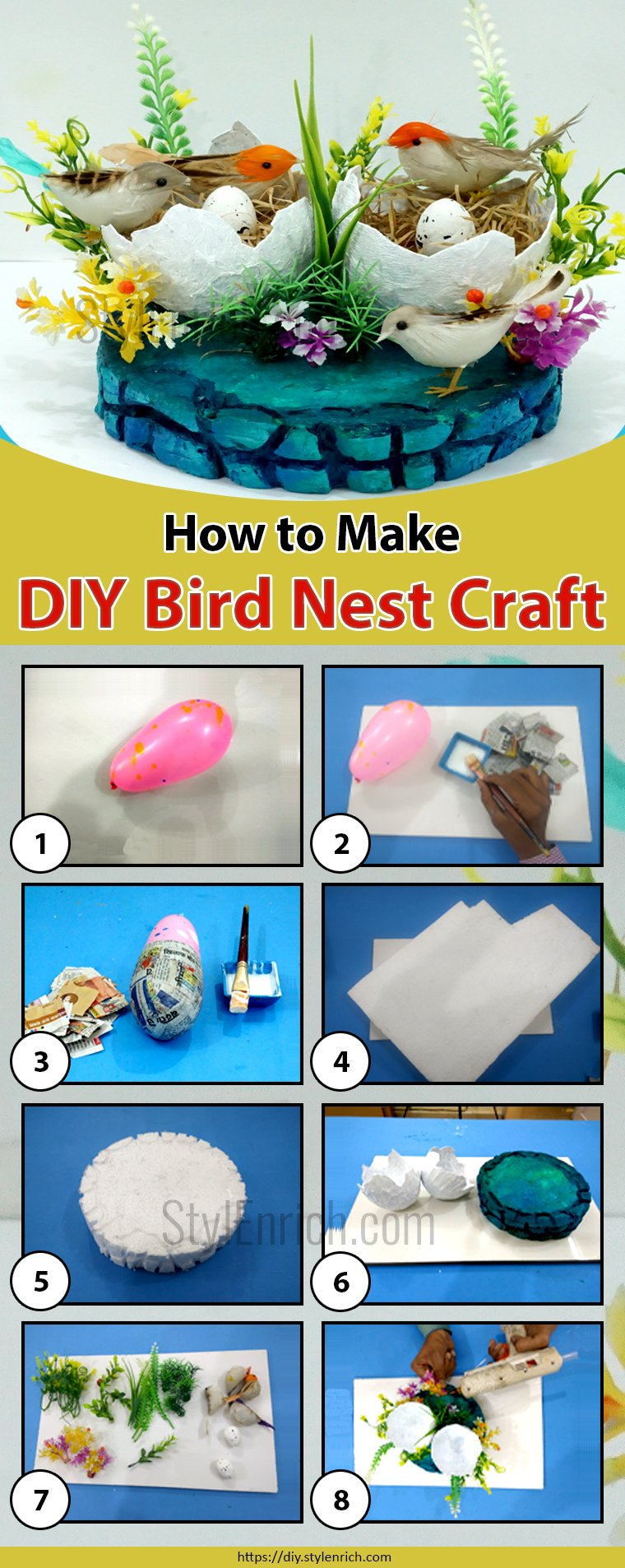 DIY Bird Nest Home Decoration Craft