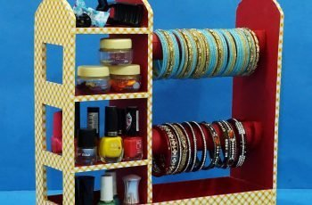 DIY Handmade Cardboard Bangle Stand Jewellery Organiser