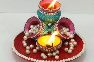 DIY Diya Decoration for Home