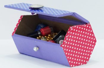DIY Jewellery Box from Cardboard Best Out of Waste