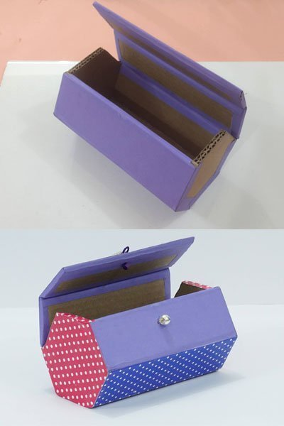 DIY Box Made from Waste Cardboard