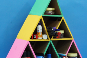 Pyramid Shaped Cardboard Organizer