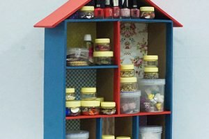 House Shaped Organizer from Cardboard