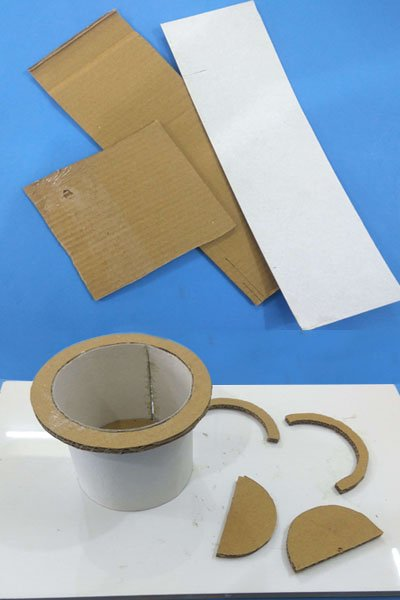 Home Décor Well from Waste Cardboard and Ice-Cream Sticks
