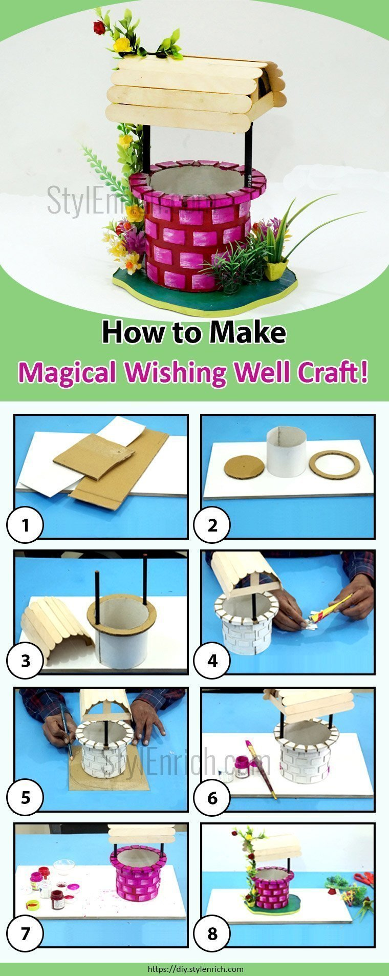 Learn Making Magical Wishing Well Craft for Home Decor
