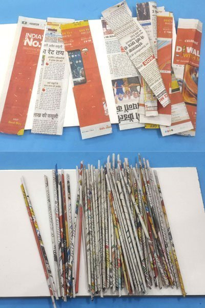 Make DIY Organizer Box with Old Newspapers