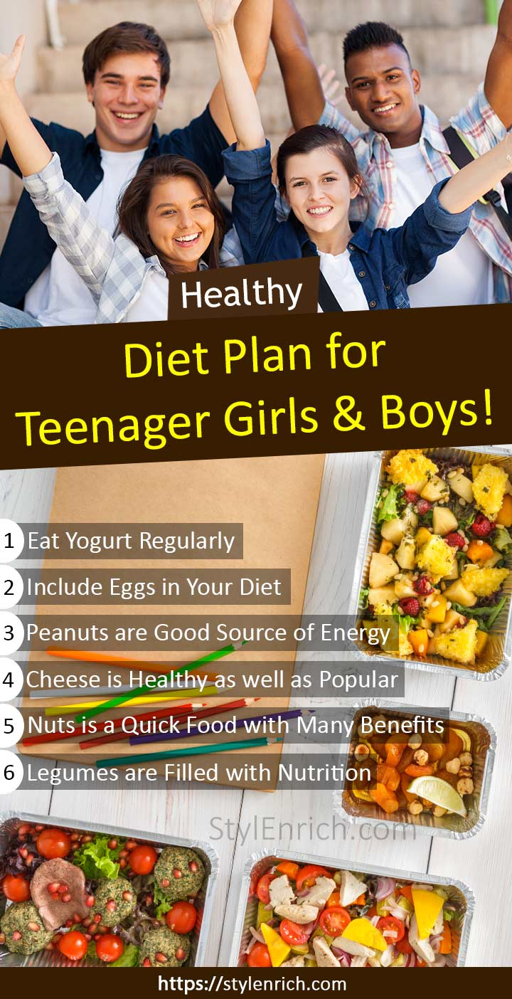 Balanced Healthy Diet Plan for Teenager Boys and Girls