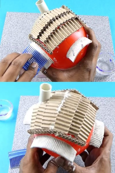 Create texture on it using comb