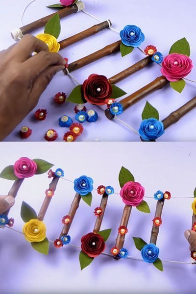 Stick more beads on the flower and dried branches