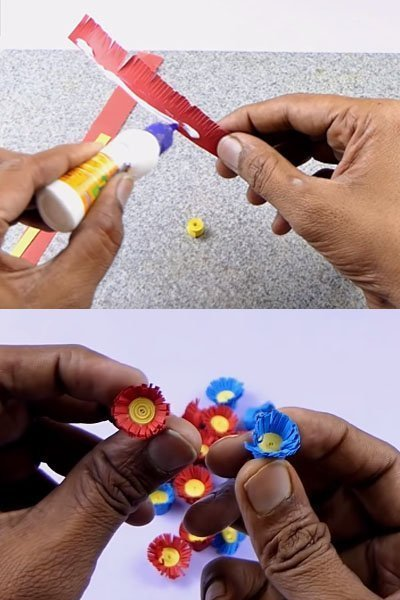 Make small paper flowers