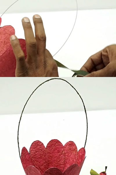Wrap the aluminium wire with craft paper