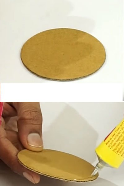 Let's take a cardboard piece for base of the basket