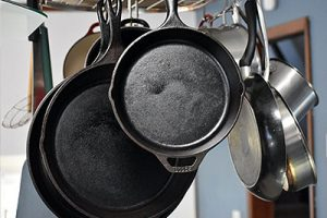 How to clean a cast iron pan in kitchen