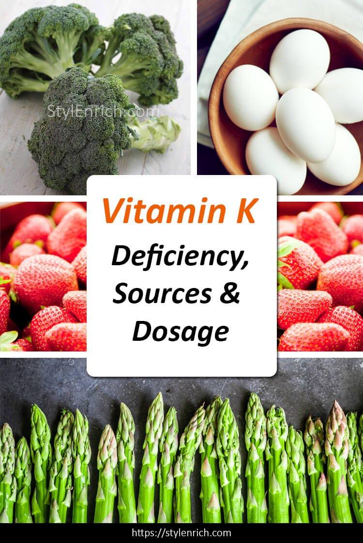 Vitamin K Deficiency, Sources and Dosage
